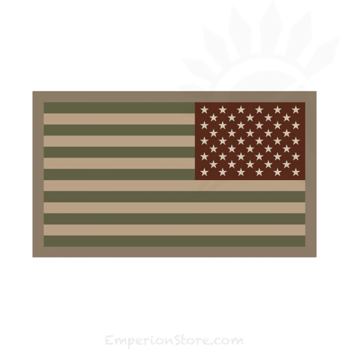 Mil-Spec Monkey Embroidered United States Mini Flag Rev Velcro Patch Forest